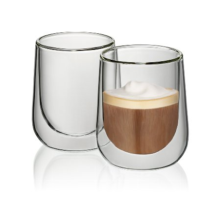 Cappuccino glass Fontana set