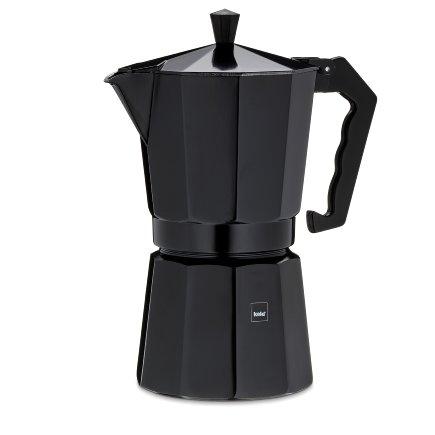 Espressokanne Italia schwarz